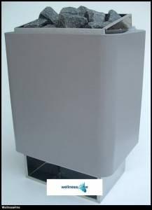 EOS 34A Elektrosaunaofen 7.5 kW - Wandausfuehrung Edelstahl inklusive Saunasteine