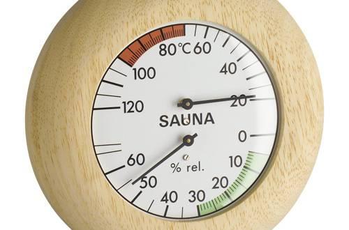 sauna thermo hygrometer f r die sauna saunaofen. Black Bedroom Furniture Sets. Home Design Ideas
